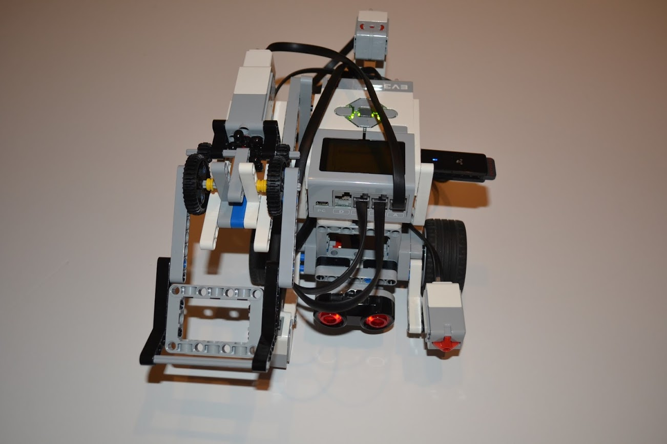 Robot with arm to pick up objects